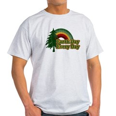 Earth Day Every Day Retro Light T-Shirt