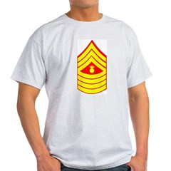 USMC Retired <BR>Master Gunnery Sergeant Light T-Shirt