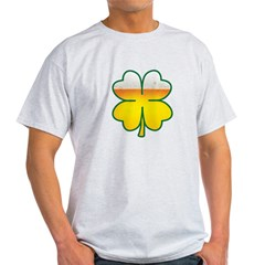 Beer Leaf Clover St. Patrick's Day Light T-Shirt