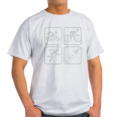 swimbikerunBeer-Grey Light T-Shirt