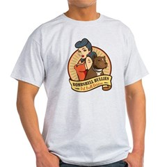 Large Pinup and dog logo NO SHADING Light T-Shirt
