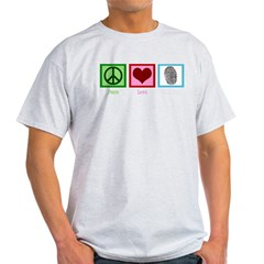 Peace Love CSI: Miami Light T-Shirt