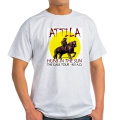 Attila 'Huns in the Sun' tour Ash Grey Light T-Shirt