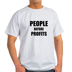 People Before Profits Light T-Shirt