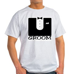 "Tuxedo ""GROOM"" Light T-Shirt"
