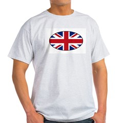 UK (Union Jack) Flag in Oval Light T-Shirt