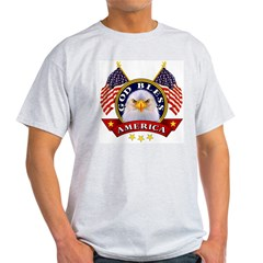 God Bless America Ash Grey Light T-Shirt