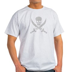 Vintage Pirate Symbol Black Light T-Shirt