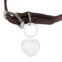 Henna Large Heart Pet Tag