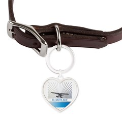 Aircraft Float Plane Large Heart Pet Tag
