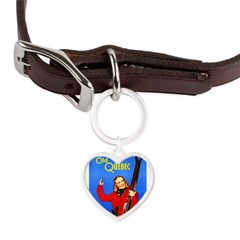 Quebec Travel Poster 1 Large Heart Pet Tag