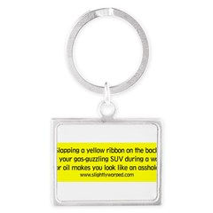 Yellow Ribbon Landscape Keychain