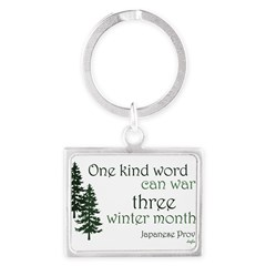Kind Word Landscape Keychain