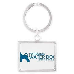 "P. Water Dog ""One Cool Dog"" Landscape Keychain"