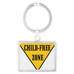 Child-Free Zone Landscape Keychain