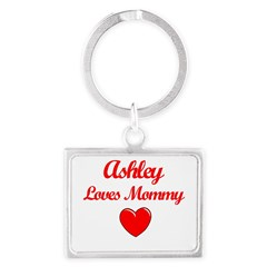Ashley Loves Mommy Landscape Keychain