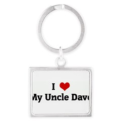 I Love My Uncle Dave Landscape Keychain