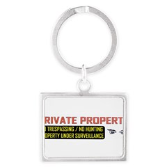 3 x 10 No Trespassing Decal Landscape Keychain
