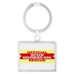 DUTCH SHEPHERD DOG Landscape Keychain