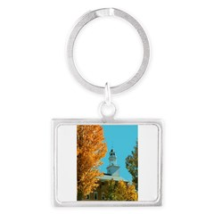 Vermont Country Church Landscape Keychain