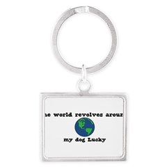 World Revolves Around Lucky Landscape Keychain