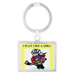 hockey gifts t-shirts Landscape Keychain