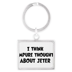 Jeter (impure thoughts} Landscape Keychain