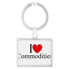 """I Love (Heart) Commodities"" Landscape Keychain"
