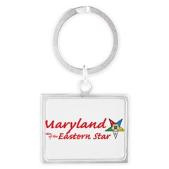 Maryland Eastern Star Landscape Keychain