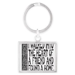 HEART OF A FRIEND Landscape Keychain