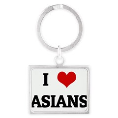 I Love ASIANS Landscape Keychain
