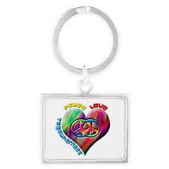 Peace Love Togetherness Landscape Keychain