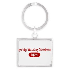 Treeing Walker Coonhound mom Landscape Keychain