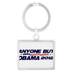 Anyone But Obama Landscape Keychain