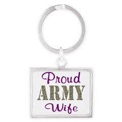 Army Purple Home/Office Landscape Keychain