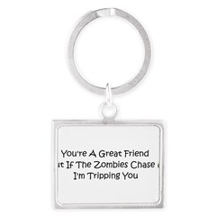 If the zombies chase us Landscape Keychain
