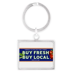 Buy Fresh Buy Local classic Landscape Keychain