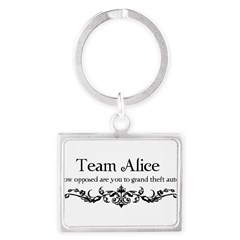 Team Alice Theft Landscape Keychain