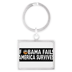 Anti-Obama Obama Fails America Survives Landscape Keychain