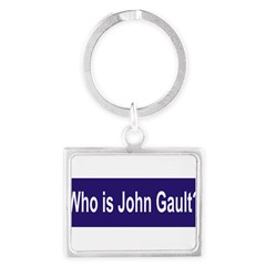 Who is John Gault? Landscape Keychain