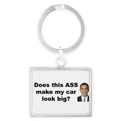 Does this ASS make my car look big? Landscape Keychain
