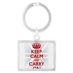 Keep Calm and Carry On Landscape Keychain