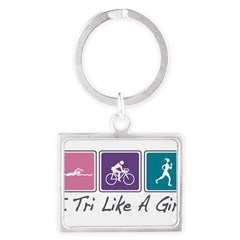 Tri Like A Girl Triathlete Landscape Keychain