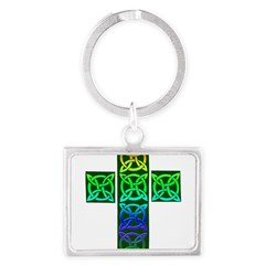Glowing Celtic Cross Landscape Keychain