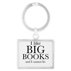 I LIke Big Books Landscape Keychain