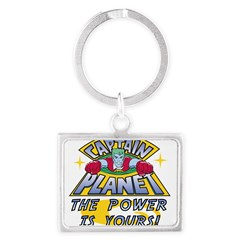 Captain Planet Power Landscape Keychain