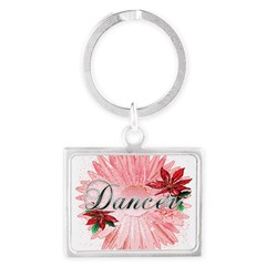 Dancer Pink Snow Flower Landscape Keychain