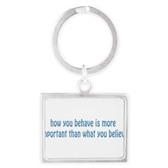 Behave / Believe Landscape Keychain