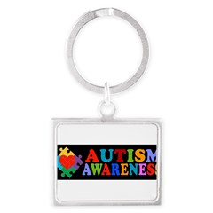 Autism Awareness Landscape Keychain