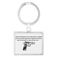 The Second Amendment Landscape Keychain